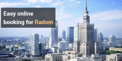 Easy online booking for radom